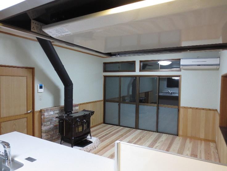 素敵な暖炉の有る部屋作り 01