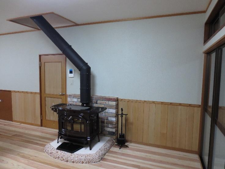 素敵な暖炉の有る部屋作り 02