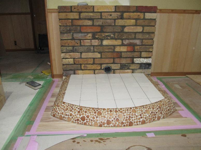 素敵な暖炉の有る部屋作り 15